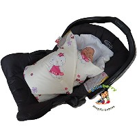 BlueberryShop Luxury Classic for CAR SEAT Swaddle Wrap Blanket Sleeping Bag for Newborn, baby...
