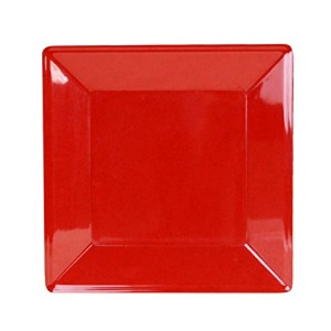 Excellant? Royal Red Collection 13-3/4 by 13-3/4-Inch Square Plate, 2-1/4-Inch Deep, Royal Red ...
