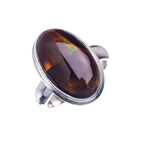 Mexican Fire Agate シルバー925リング5