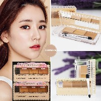 Japan CANMAKE Color Mixing Concealer 3 Shades Palette SPF50 PA+++ w Brush