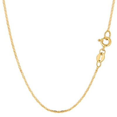 """14k Yellow Gold Mariner Link Chain Necklace, 1.2mm, 20"""""""