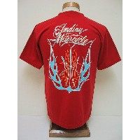 INDIAN MOTORCYCLE[インディアンモーターサイクル] Tシャツ FLAMES (RED)
