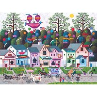 【送料無料】【[バッファローゲーム]Buffalo Games 1000 Piece Charles Wysocki Confection Street Jigsaw Puzzle 11406 ...