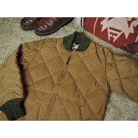 CRESCENT DOWN WORKS x CONEY ISLAND DOWN SWEATER [DIAGONAL QUILT SWEATER][TAN x CAMO] / クレセントダウンワークス...