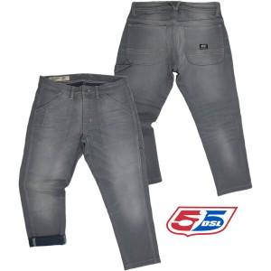 【SALE】30%OFF★55DSL(FIFTY FIVE DSL) フィフティファイブ ディーエスエル PUNSTEDT78 PANTALONI ストレッチ・クロップドパンツ A.GREY...