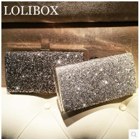 LOLIBOX custom summer diamond flashing holding bag dinner package European and American high-end ban