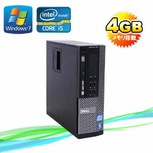 中古パソコン DELL Optiplex7010SF Core i5 3470(3.2GHz) メモリー4GB DVDマルチ Office_WPS2017 64Bit Windows7Pro /R...