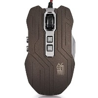 PowerLead Gpow PJS-X9 9 Buttons 800/1200/1600/2400DPI Wired Gaming Mouse with 4 Breathing LEDs...
