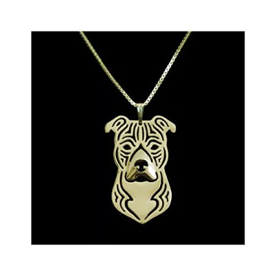 American Staffordshire Terrierネックレスローズゴールド調