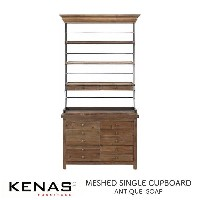 KENAS MESHED SINGLE CUPBOARD ANTIQUE SOAP W100×D43×H191cm ケナス メッシュド シングル カップボード アンティーク ソープ ヴィンテージ...