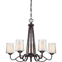 Quoizel ADS5005DC Adonis 5 Light Chain Hung Chandelier by Quoizel