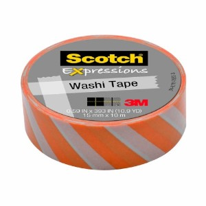 "3M Washi Tape .59""X393"" -Diagonal Stripe (並行輸入品)"