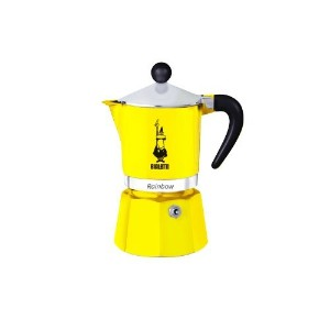 Bialetti Rainbow - Stove Top Espresso Coffee Maker - Yellow - 1 Cup