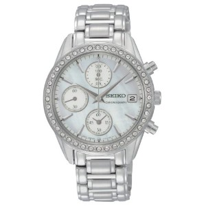 【送料無料】【[セイコー]Seiko 腕時計 Stainless Steel Analog with Mother-Of-Pearl Dial Watch SNDY21 レディース [逆輸入]】...