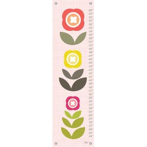 Oopsy Daisy Fine Art for Kids Modern Blooms Growth Chart by Stacy Amoo-Mensah, 12 by 42-Inch by...
