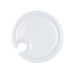 Set of 4 Appetizer Plates with Glass Holder (White) by Truffle Toast Home