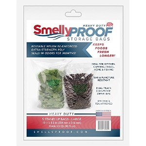 Smelly Proof再利用可能、丈夫Stand Up Heavy Dutyバッグ、Smell Proof、double-trackファスナーバッグ、アウトドアストレージバッグ(旅行、キャンプ...