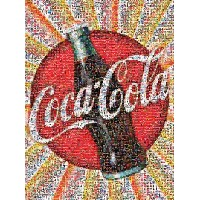 【送料無料】【[バッファローゲーム]Buffalo Games CocaCola: Photomosaic 1000 Piece Jigsaw Puzzle by 11268 [並行輸入品]】...