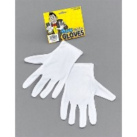 Bristol Novelty Gloves. White Magicians Costume Accessories - Men's - One Size