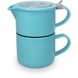 FORLIFE Tea for One with Infuser 14 ounces, Turquoise by FORLIFE