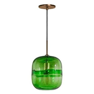 Jesco Lighting PD407-GN/BZ 1-Light Line Voltage Pendant and Canopy with Bronze Socket, Green by...