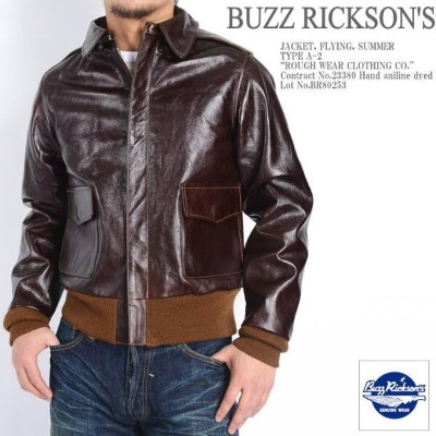 """BUZZ RICKSON'S バズリクソンズ A-2 レザー フライトジャケット """"ROUGH WEAR CLOTHING CO."""" BR80253"""