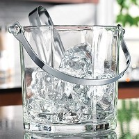 Home Essentials & Beyond 8966 30 oz. Tablesetter Paneled Ice Bucket with Tongs by Home Essentials &...