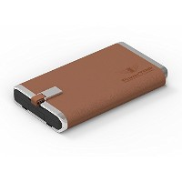 PowerTRIP Elite High, Brown, 13000 Power Bank (13000 mAh Battery, 2X USB, Fuxe Leather like Cover,...