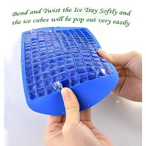 MagicW Mini Ice Cubes Tray Molds Silicone Ice Cube Trays Candy Molds, 3/8'' 160 Frozen Mini Cubes...