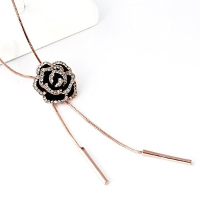 One&Only Jewellery エレガントローズ 薔薇 デザイン ペンダント ネックレス K18GP