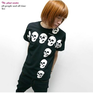 2weekセール☆ all people and all time(スカル十字架)Tシャツ -The Ghost Writer-tgw022tee-G-RR- ドクロ パンク ロックTシャツ...