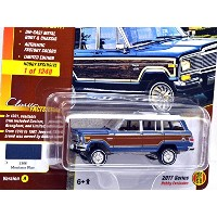 "JOHNNY LIGHTNING 1:64SCALE ""CLASSIC GOLD COLLECTION"" ""1981 JEEP WAGONEER (MONTANA BLUE) ジョニーライトニング..."
