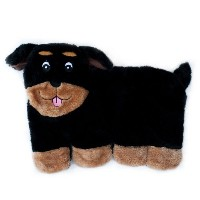 ZippyPaws Squeakie Pup 11-Squeaker No Stuffing Plush Dog Toy, Rottweiler by ZippyPaws