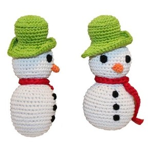 Pet Flys (ペットフライ) Holiday Knit Knack Frost The Snowman Organic Small Dog Toy