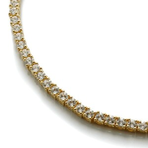 10K イエローゴールドネックレス (45cm×3.8mm)3-13721-1【AUTUMN JEWELRY】