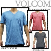 VOLCOM VネックTシャツ SOLID HEATHER S/S V NECK TEE