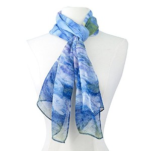 "【Galleria】ロング スカーフ Art Collection Monet ""Water Lilies"" Scarf 絵画コレクション モネ 睡蓮(ウォーターリリー)"