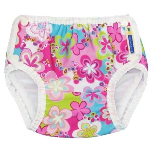 Mother-ease Swim Diapers (XLarge 33-40 lbs, Splashing Daisies) by Mother ease Cloth Diapers