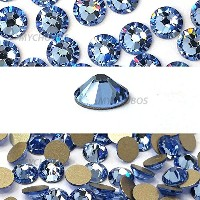 LIGHT SAPPHIRE (211) blue Swarovski NEW 2088 XIRIUS Rose 20ss 5mm flatback No-Hotfix rhinestones...