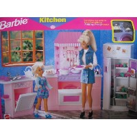 Barbie バービー キッチンセット Kitchen-Everything you need for lots of fun with the Folding Pretty House
