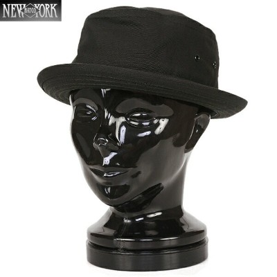 【15%OFF大特価】New York Hat/ニューヨークハット 3014 CANVAS ポークパイハット BLACK《WIP》 ミリタリー 男性 ギフト プレゼント