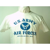 "Buzz Rickson's (バズリクソンズ)S/S Tシャツ""U.S.ARMY AIR FORCES""MIAMI BEACH, FLA."