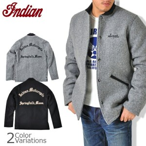 【indian】インディアンモーターサイクル 30oz.WOOL MELTON PHARAOHS JACKET 【IM12590】