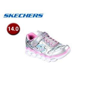 SKECHERS/スケッチャーズ 10914N-SMLT LUMI-LUXE ガールズ [ライトアップ機能付き]【14.0】(SILVER/MULTI)