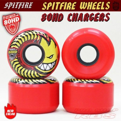 SPITFIRE ウィール 80HD CHARGERS RED 54/56/58mm 【スケートボード ソフト ウィール】【スピットファイア】【日本正規品】【あす楽】