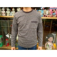 【送料無料】 FREEWHEELERS(フリーホイーラーズ) NARROW STRIPED SET-IN 9/10 Sleeve Shirts with POCKET #1335009 【あす楽対応...