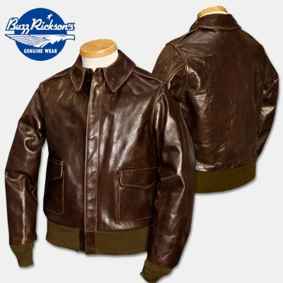 """BUZZ RICKSON'S(バズリクソンズ)TYPE A-2 """"ROUGH WEAR CLOTHING CO.""""Contract No.23380ANILINE HAND FINISHED ..."""