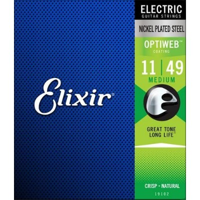 ELIXIR 《エリクサー》 OPTIWEB Electric Guitar Strings [エレキギター弦] 1Set (Medium)