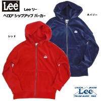 ★【WinterSALE】【Leeキッズ/ジュニア】【ベロアジップアップ*パーカー】しっかり丈夫な素材感のあったか素材のジップアップパーカーVELOUR ZIP PARKA/LL0347暖WARM