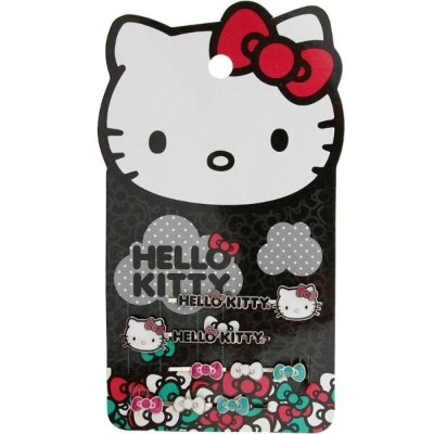 ハローキティ レディース ヘアアクセサリー【Hello Kitty Raining Bows Hairpins】silver / black / white